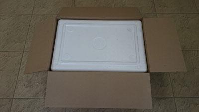 Пенопластовая коробка вармбокс для перевозки и хранения сыра